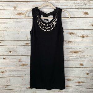 Rebecca Taylor black pearl embellished dress